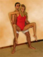 posturas sexuales en pie El halterofilista